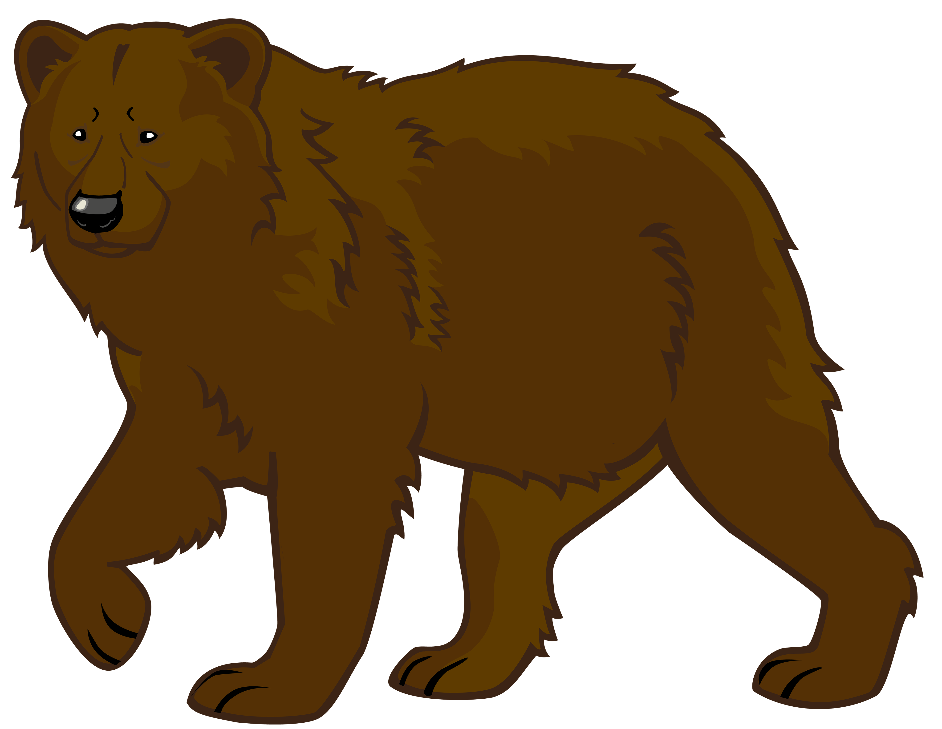 Brown png best web. Clipart bear