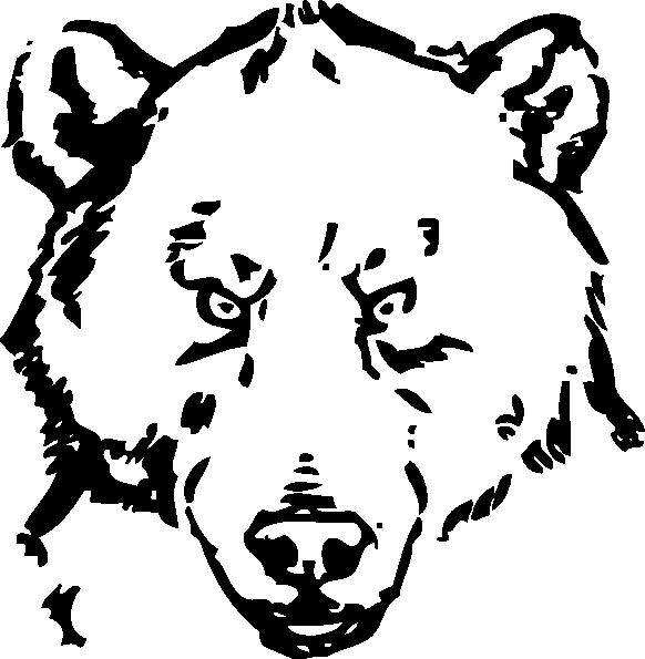 Clipart bear american black bear. Line drawing at getdrawings