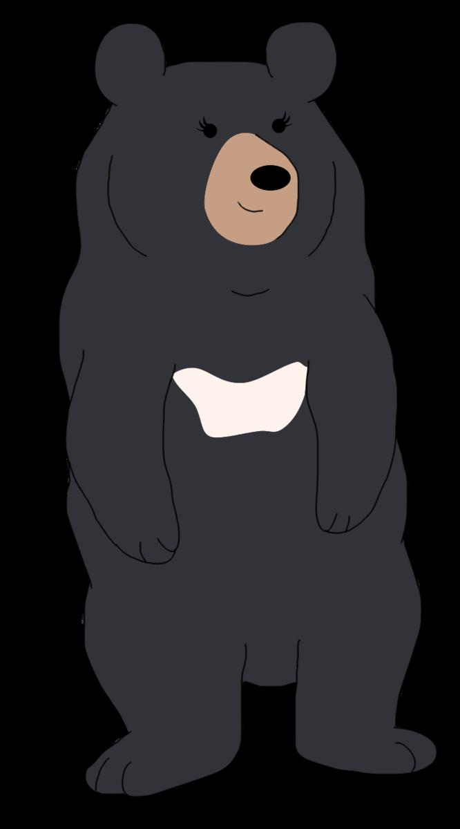 Clipart bear american black bear. Moon by sketch shepherd