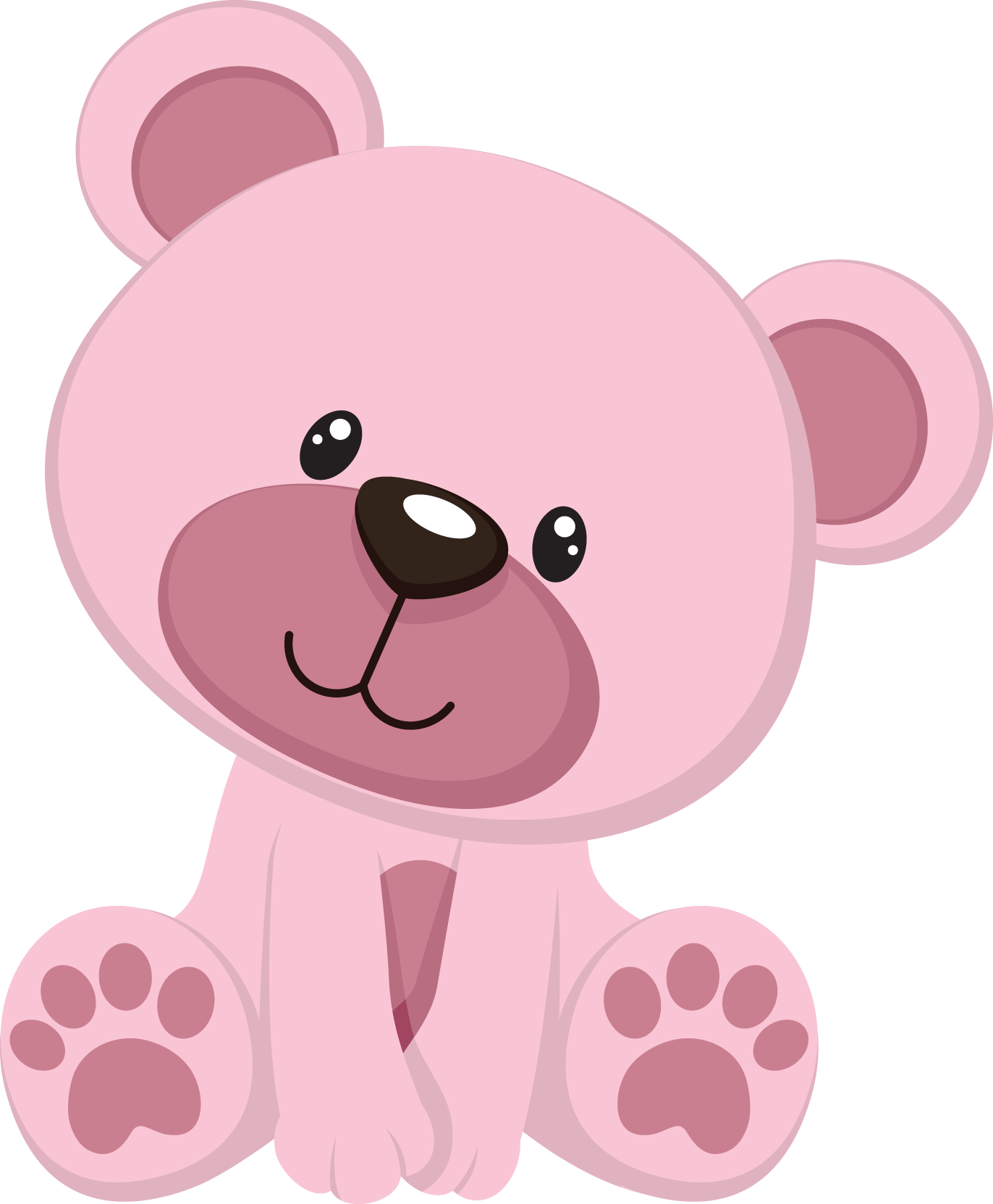 Clipart bear baby bear. Pink pencil and in