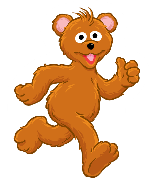 Clipart bear baby bear. Sesame street clip art
