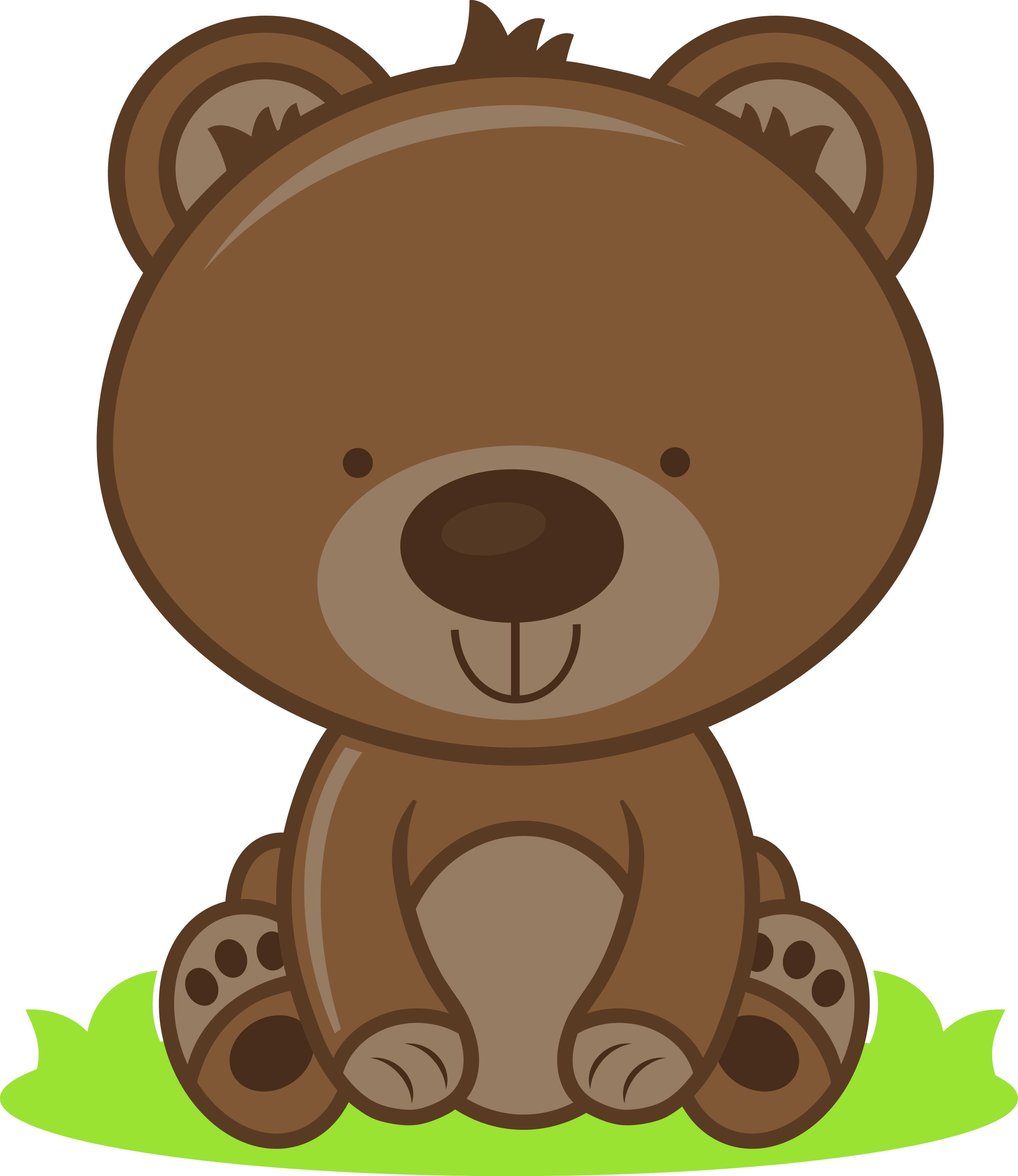 Clipart bear baby bear. Jade beaver porcupine clip