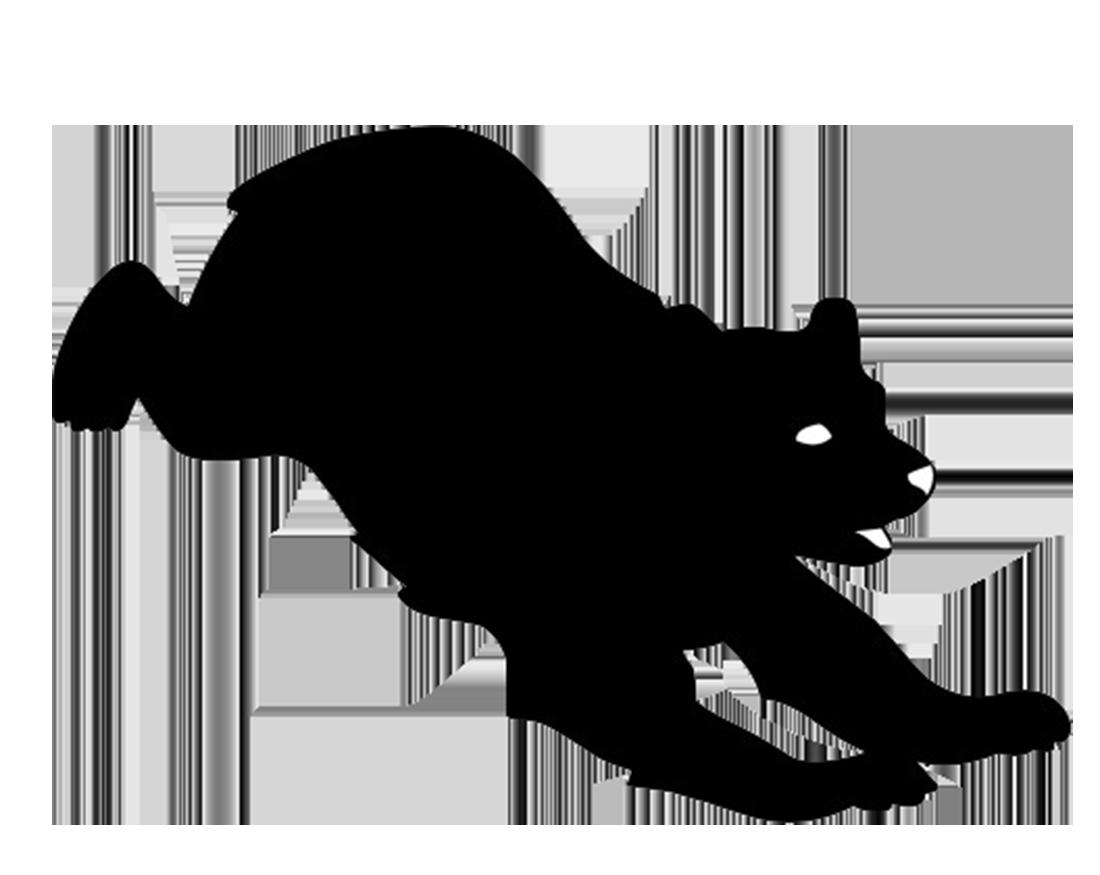 Silhouette clip art at. Clipart bear beruang