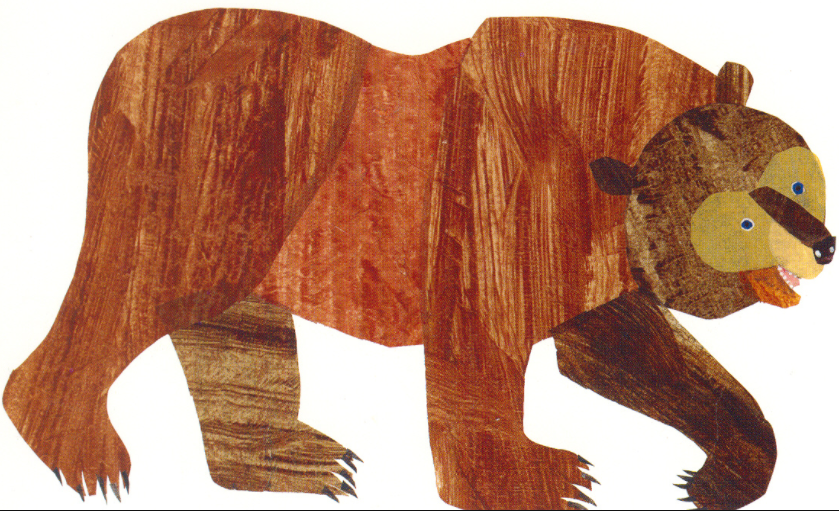 Eric carle png transparent. Clipart bear brown bear