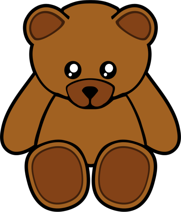Clipart bear brown bear. Childrens toy pencil and