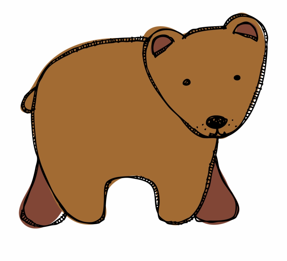 Clipart bear brown bear. What do you see