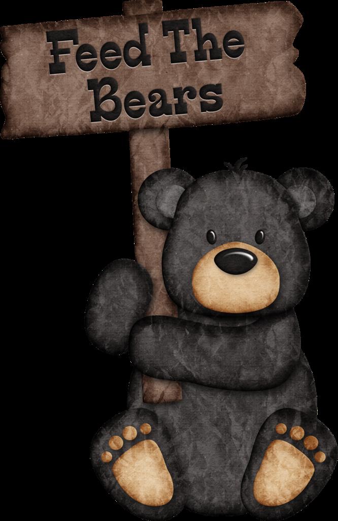 Woodland clipart rustic baby. Jss happycamper black bear