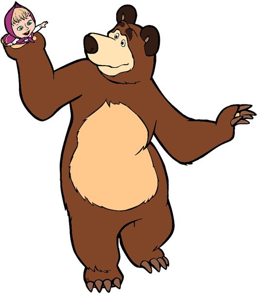 Clip art masha and. Clipart bear cartoon