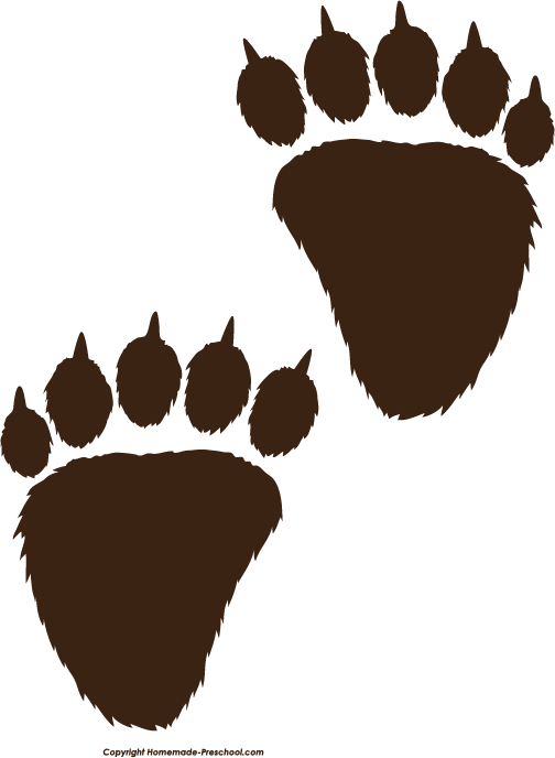 Clipart bear cave. Free paw prints diy