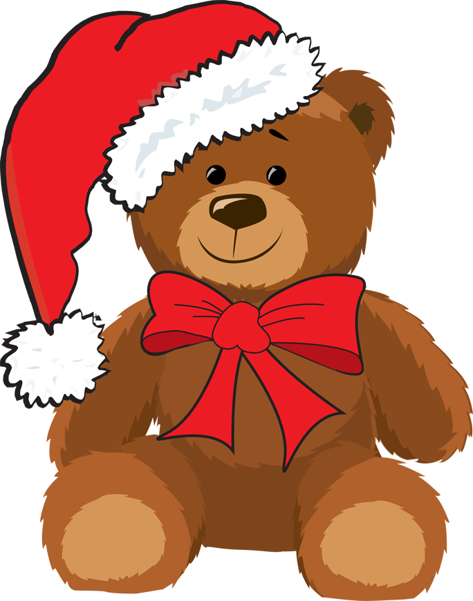 Christmas teddy bears . Race clipart fortunate