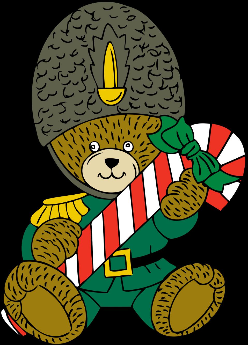 Clipart bear christmas. Public domain clip art
