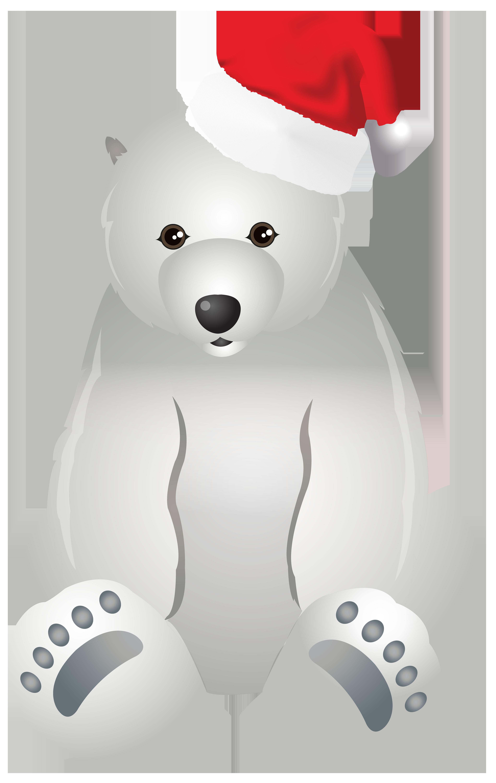 Clipart bear christmas. Polar transparent clip art
