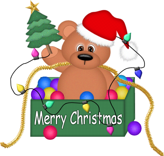 Clipart bear christmas. With lights png gallery