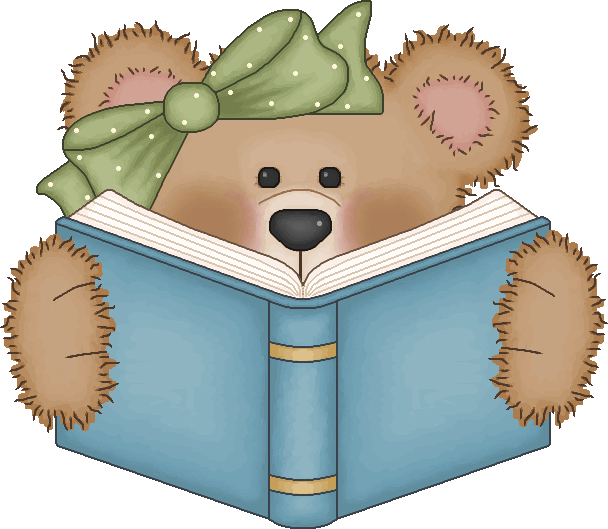 Bear clip art reading. Tub clipart vintage