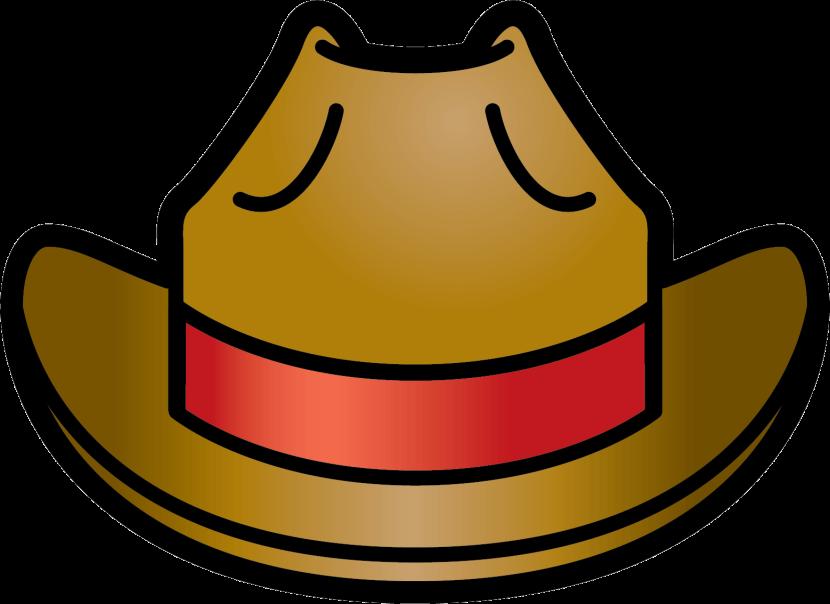 Cowboy clipart ten gallon hat. Of a at getdrawings