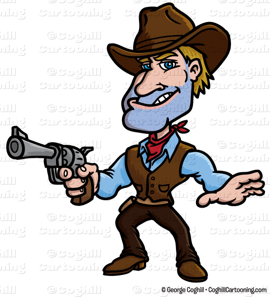 Shop clipart butcher. Of a cowboy at