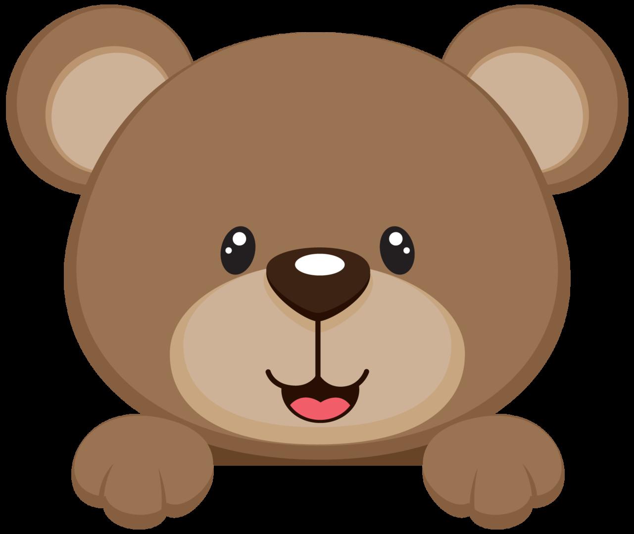 Bear shower infant child. Nut clipart baby