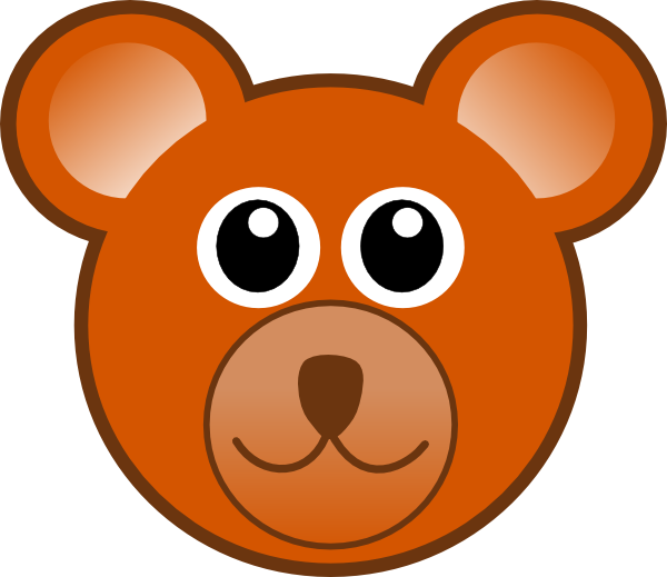Clip art at clker. Head clipart brown bear