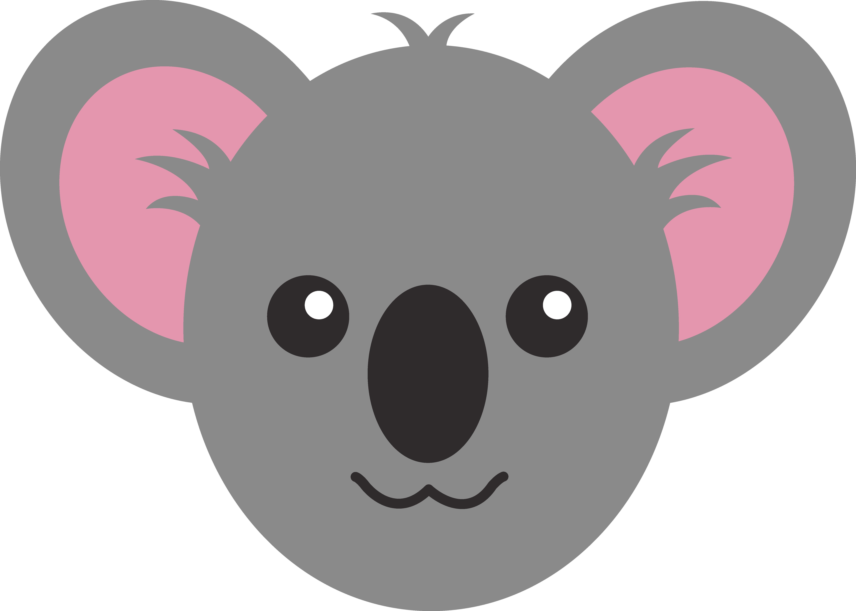 Clipart bear easy. Koala face