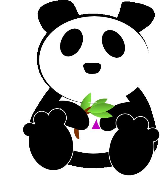 Bamboo cosmic panda at. Eating clipart clip art
