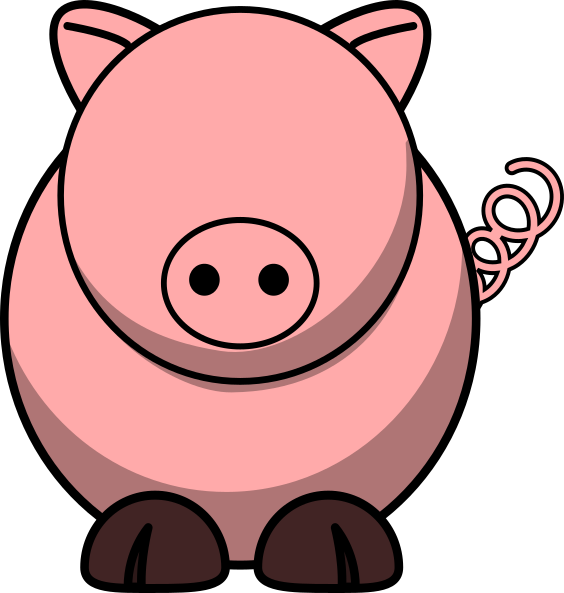 Pig with no clip. Eyes clipart gorilla