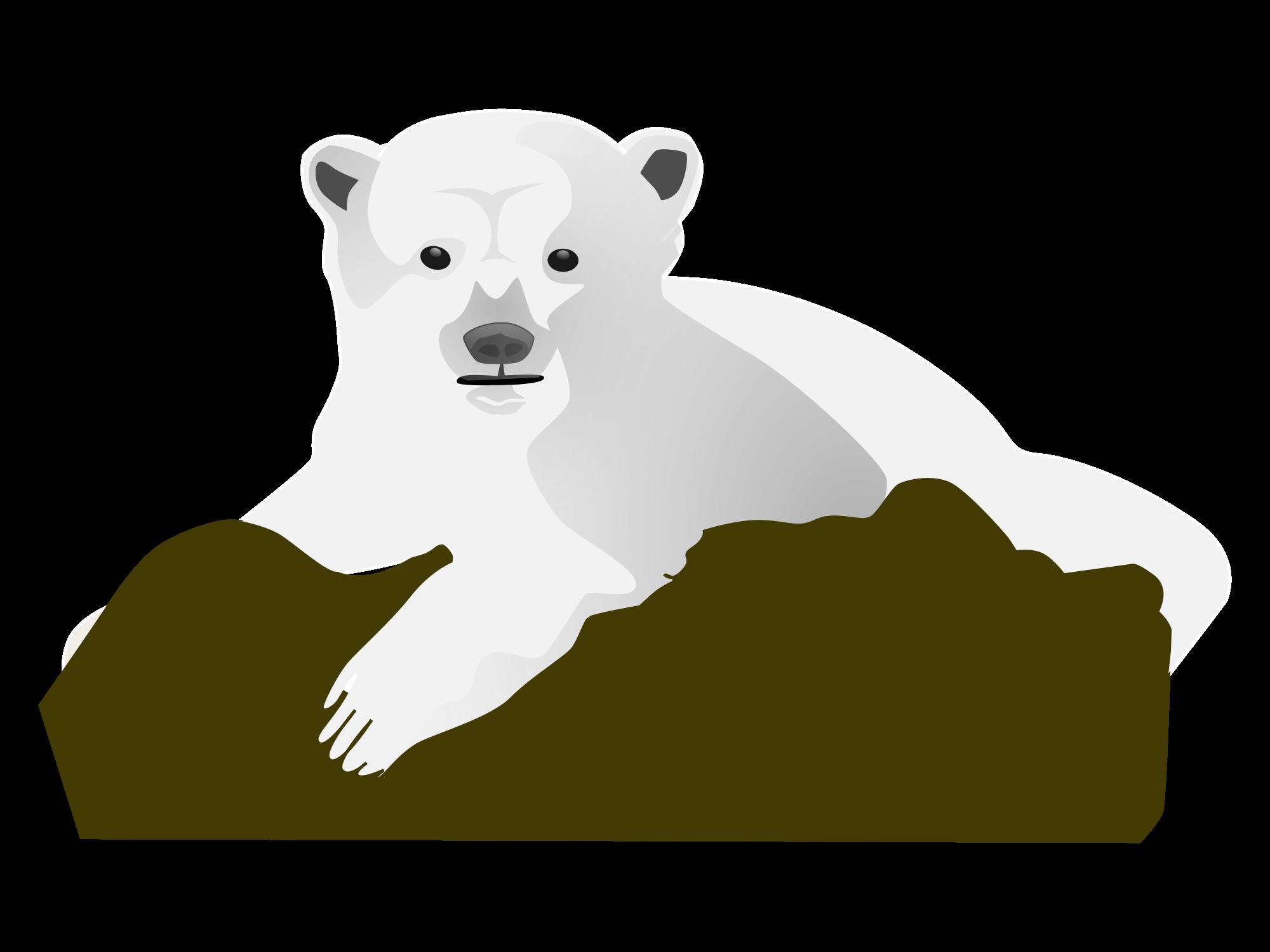 Clipart rock file. Polar bear clip art