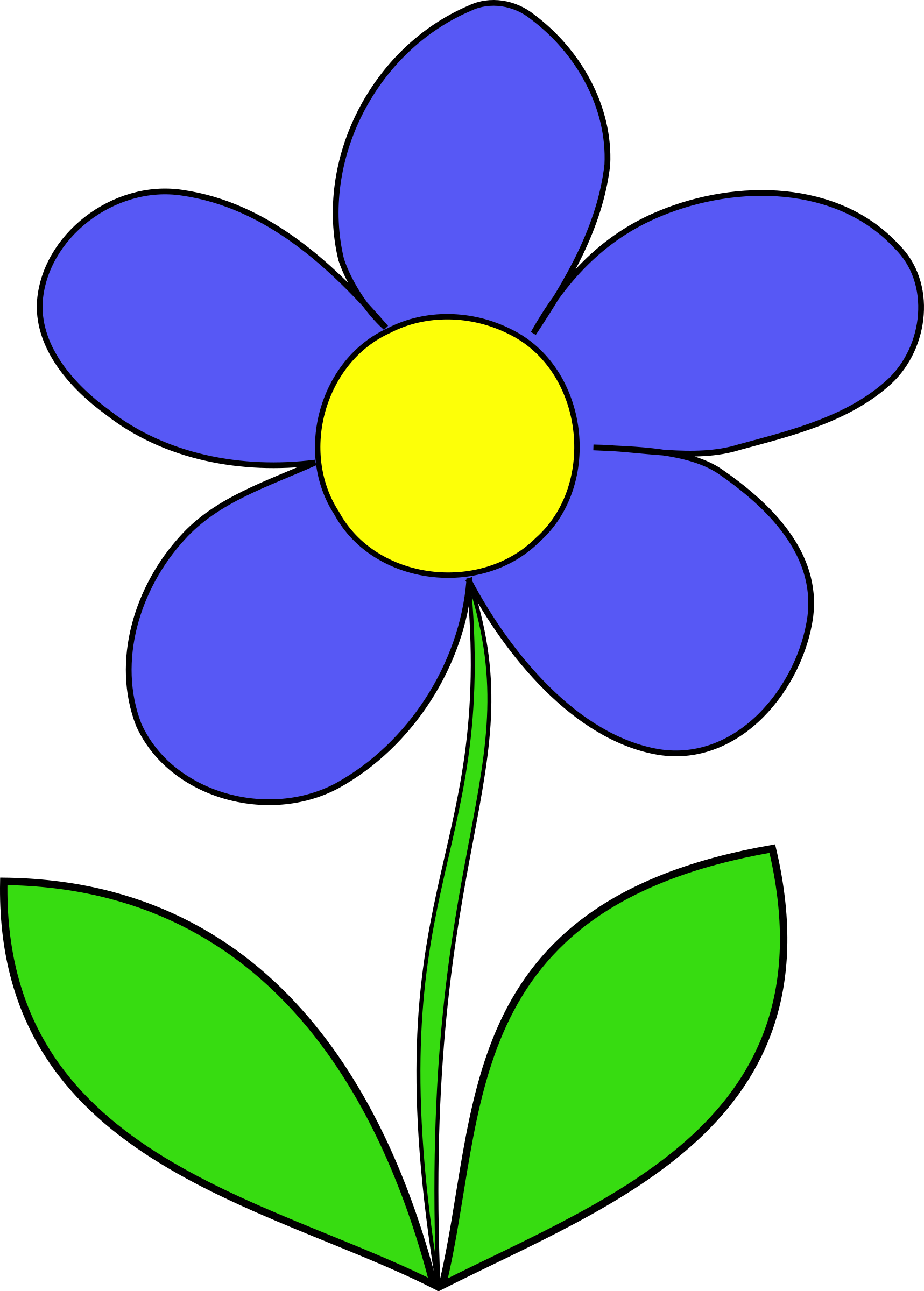 Kids clipart flower. Free at getdrawings com