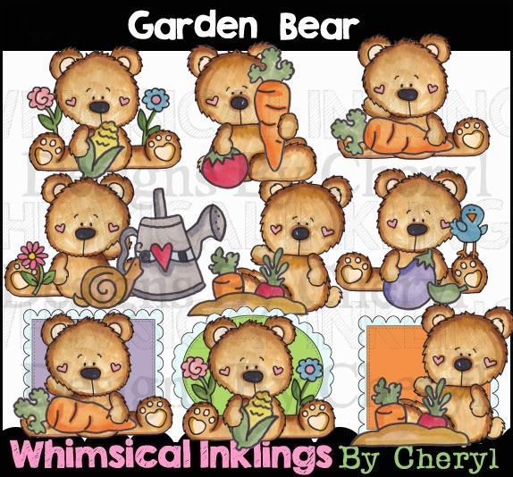 Clipart bear garden. Collection