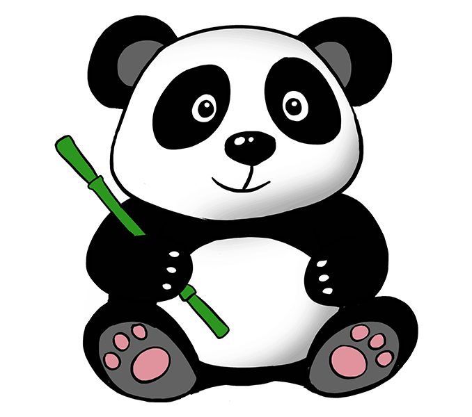 Clipart bear giant panda. Drawing clip art transprent