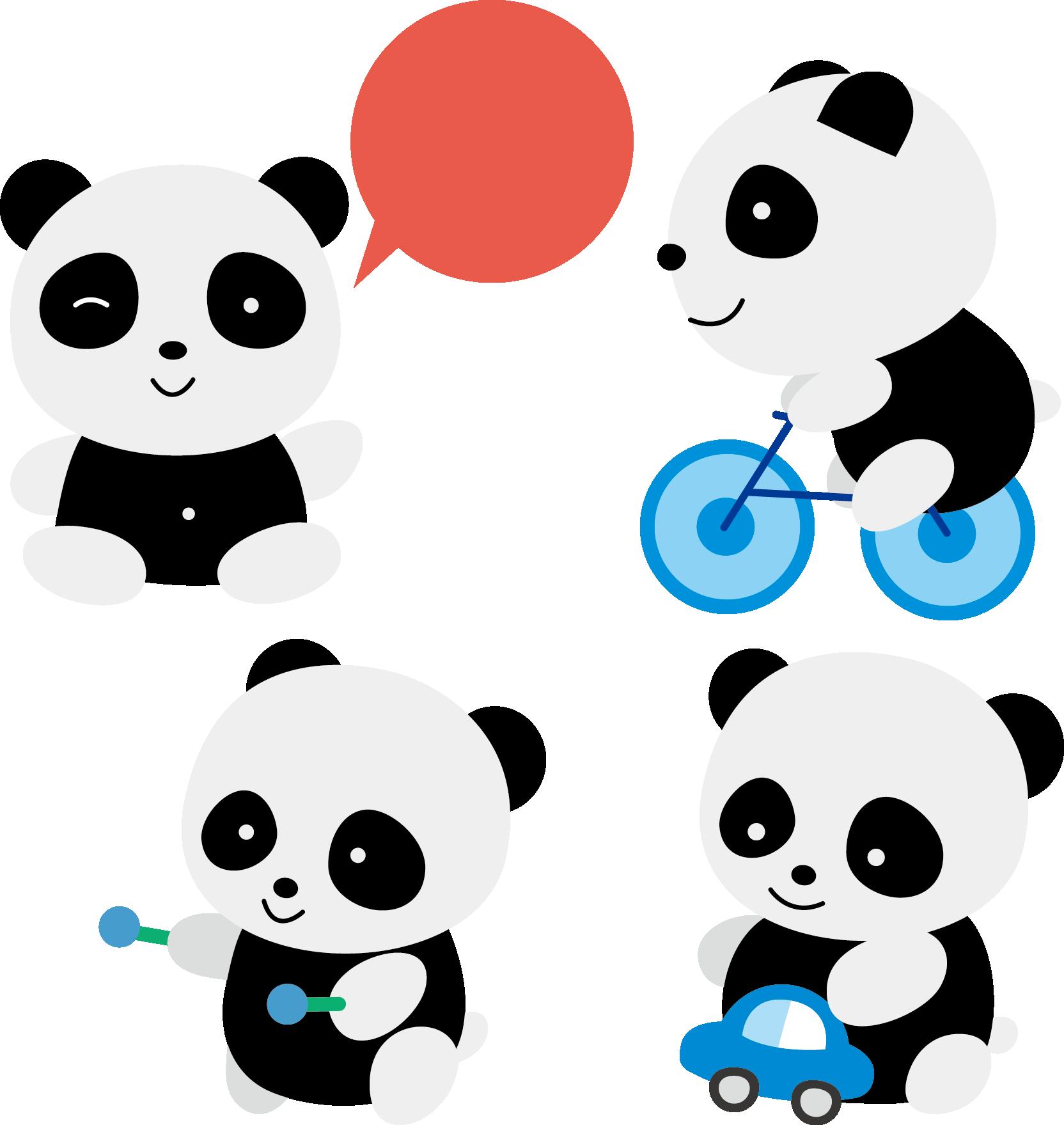 Red cuteness clip art. Clipart bear giant panda