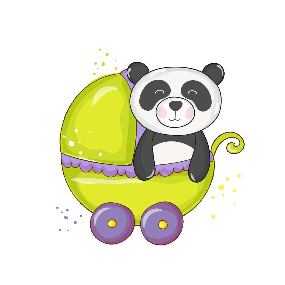 Baby shower infant clip. Clipart bear giant panda
