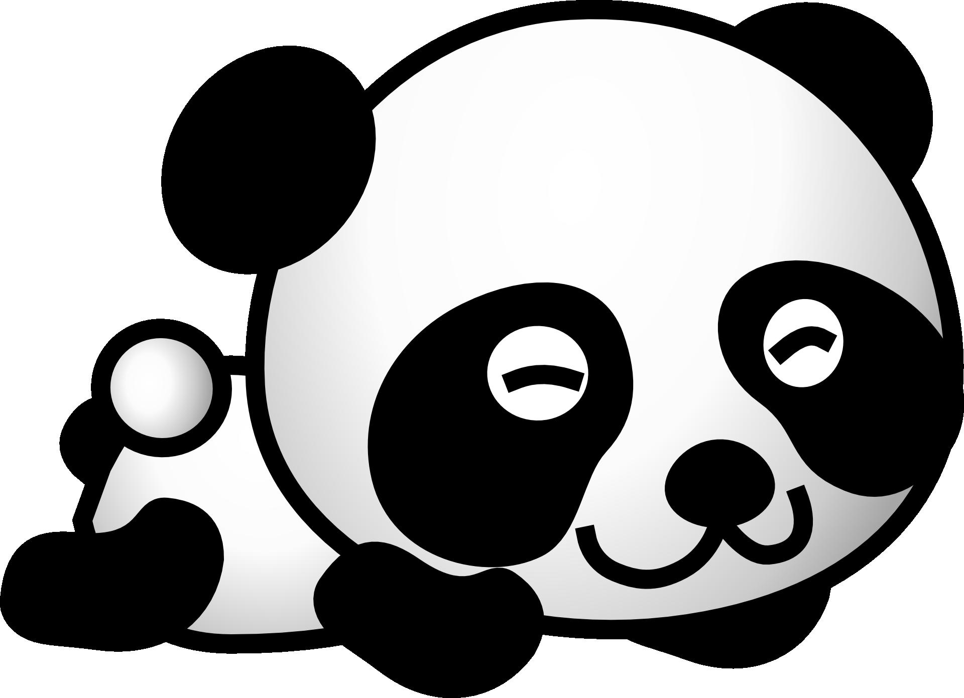 Red baby pandas clip. Clipart bear giant panda