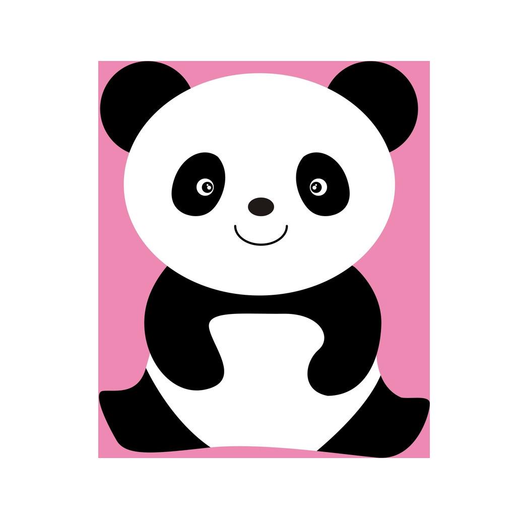 Clipart bear giant panda. Coloring book cuteness red