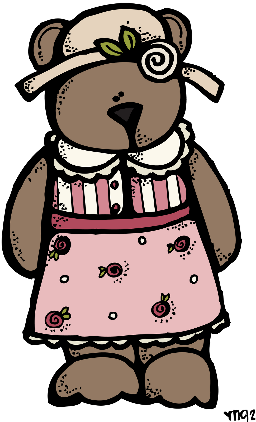 Melonheadz miss bear. Grandma clipart hispanic