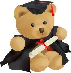 Teddy clip art printables. Graduation clipart bear