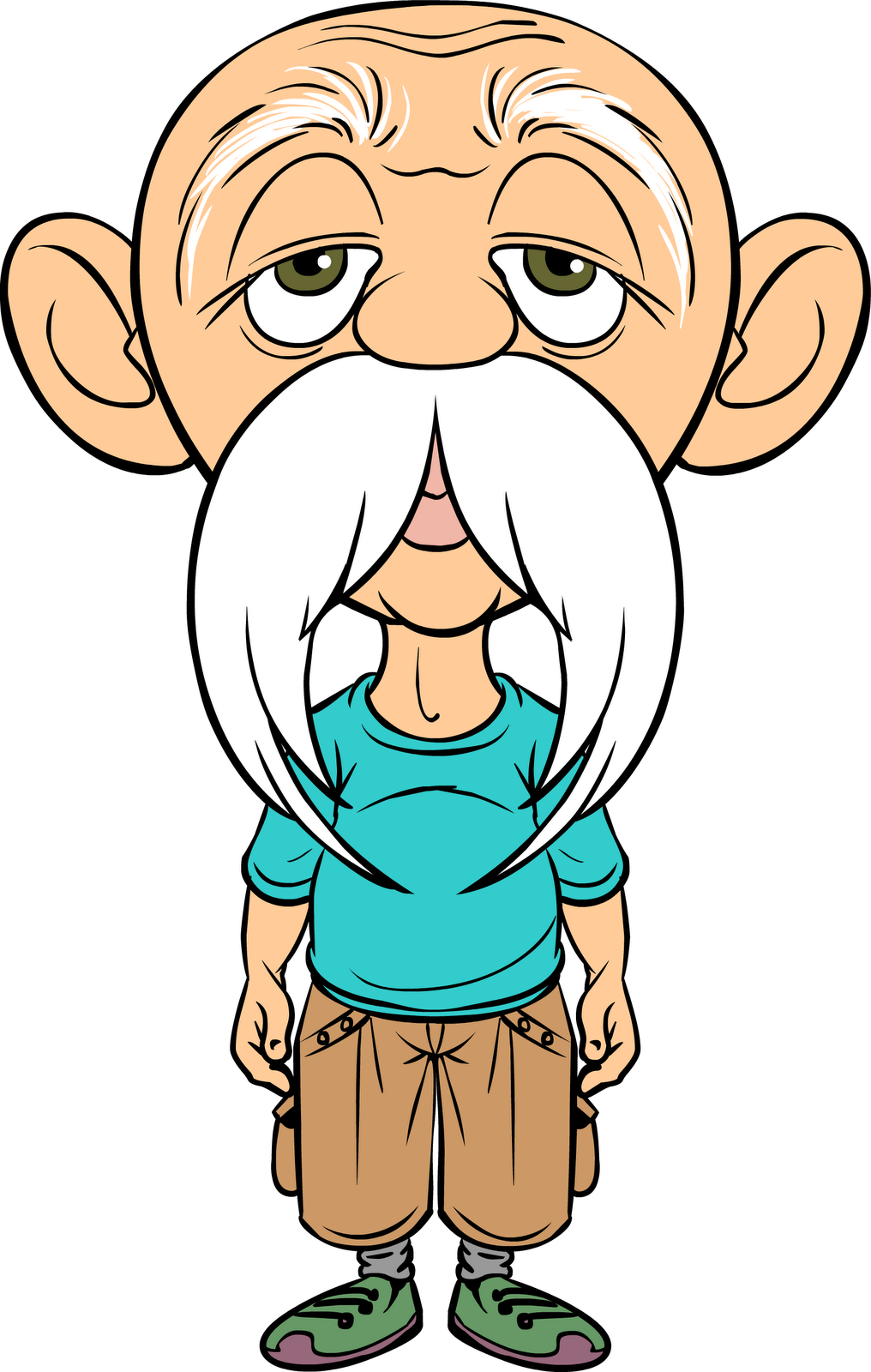 Markers clipart skinny. Old man cartoon szukaj