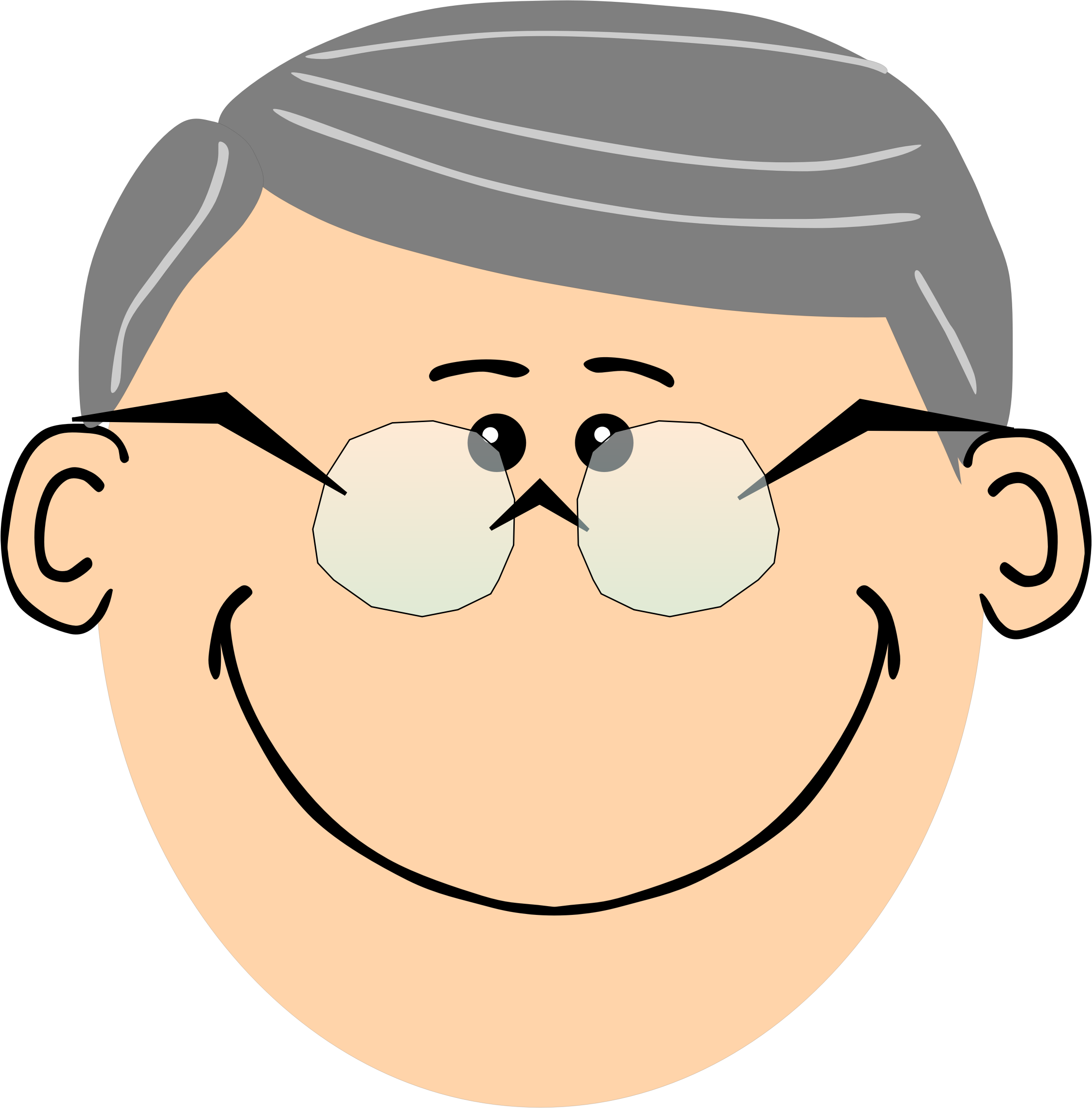collection of cartoon. Glasses clipart grandpa
