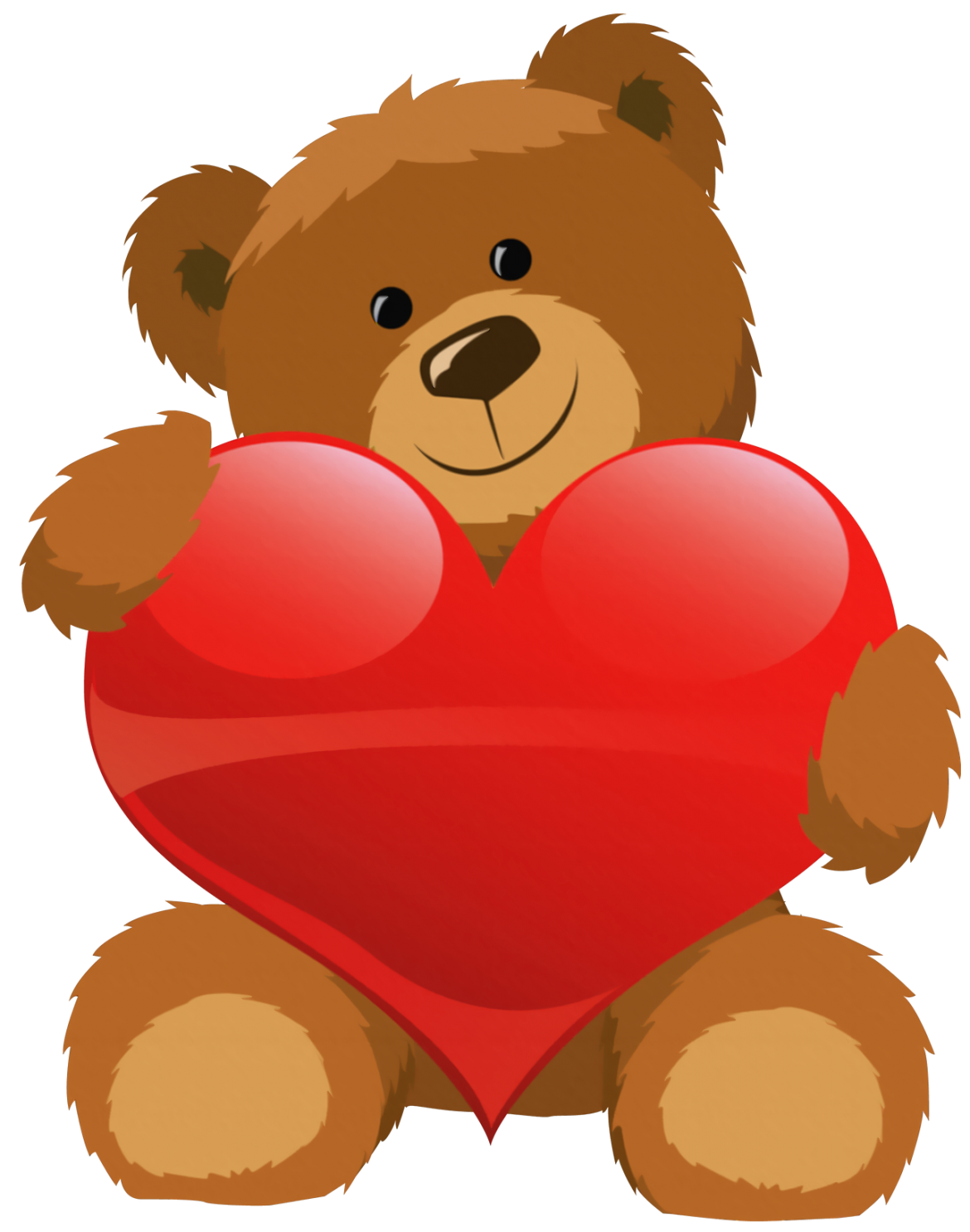 Cute grizzly with heart. House clipart bear