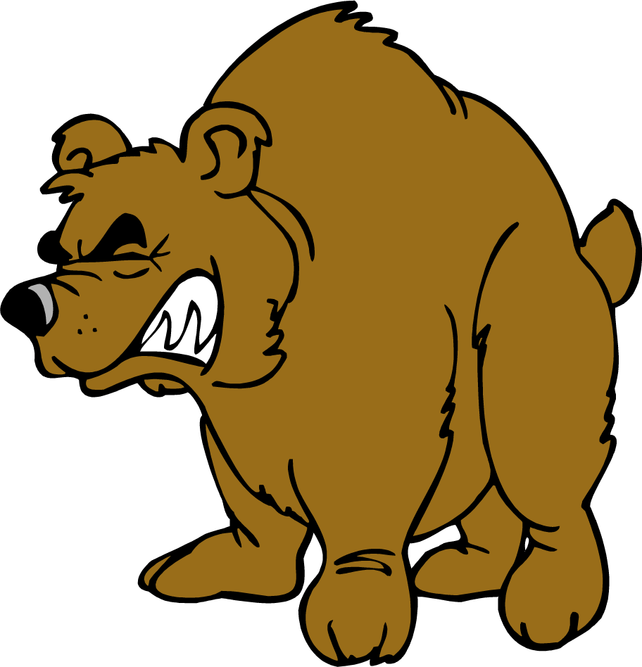 Coconut clipart angry. Brown bear grizzly clip