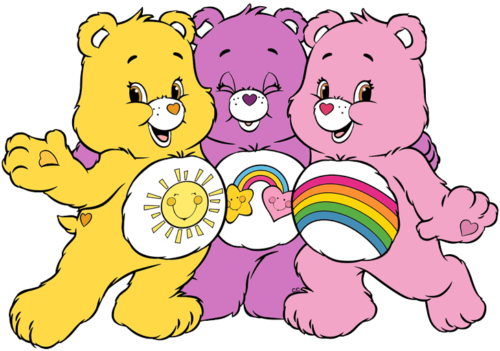 Clipart bear heart. Care bears and cousins