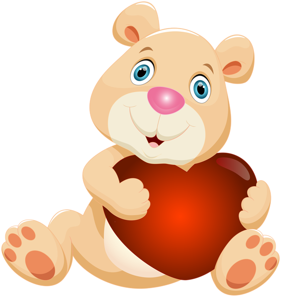 Clipart bear heart. Teddy with png clip
