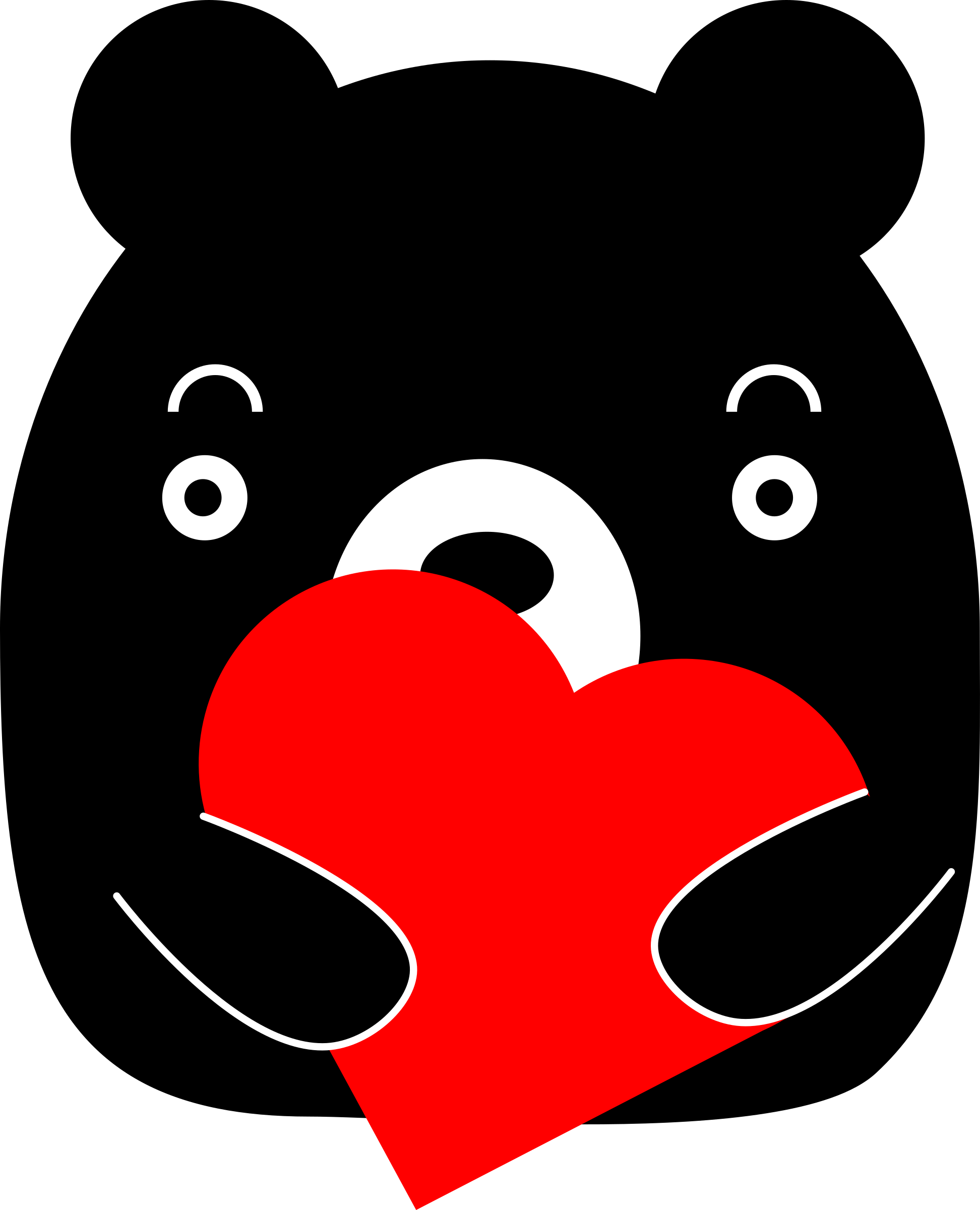 Black holding a big. Clipart bear heart