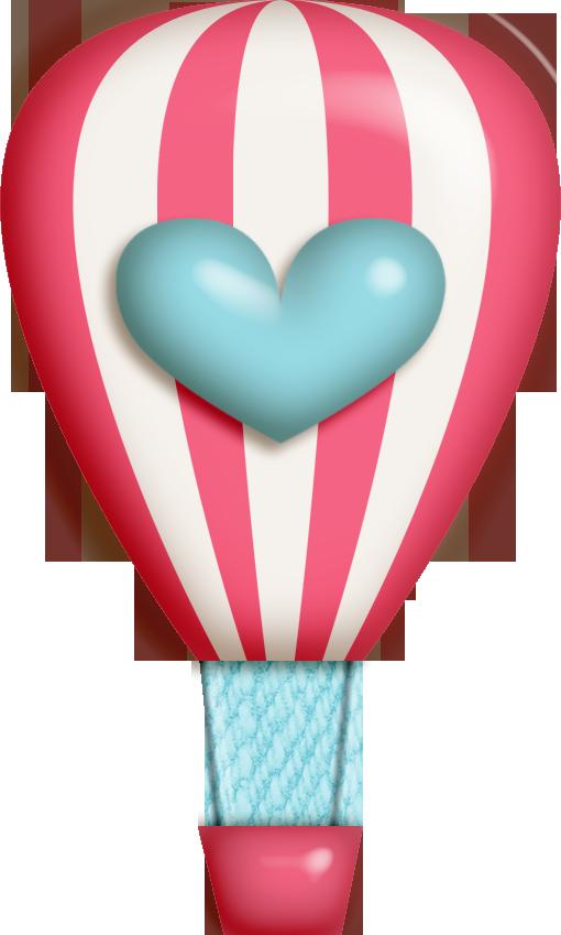 Hearts hot air balloon