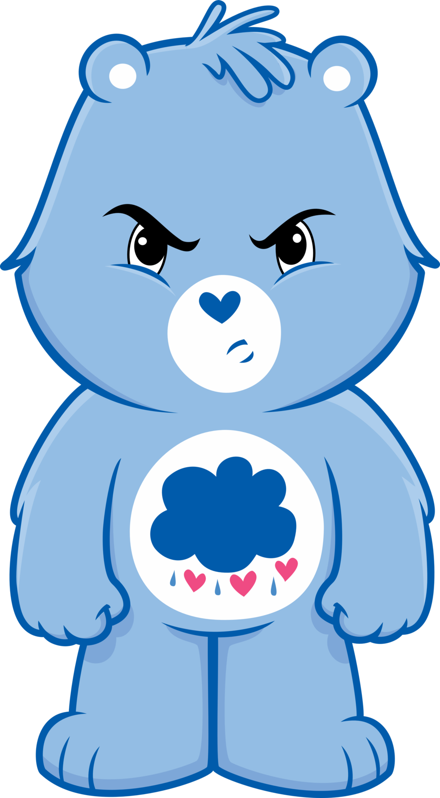 Grumpy bear vector by. Creation clipart cares god