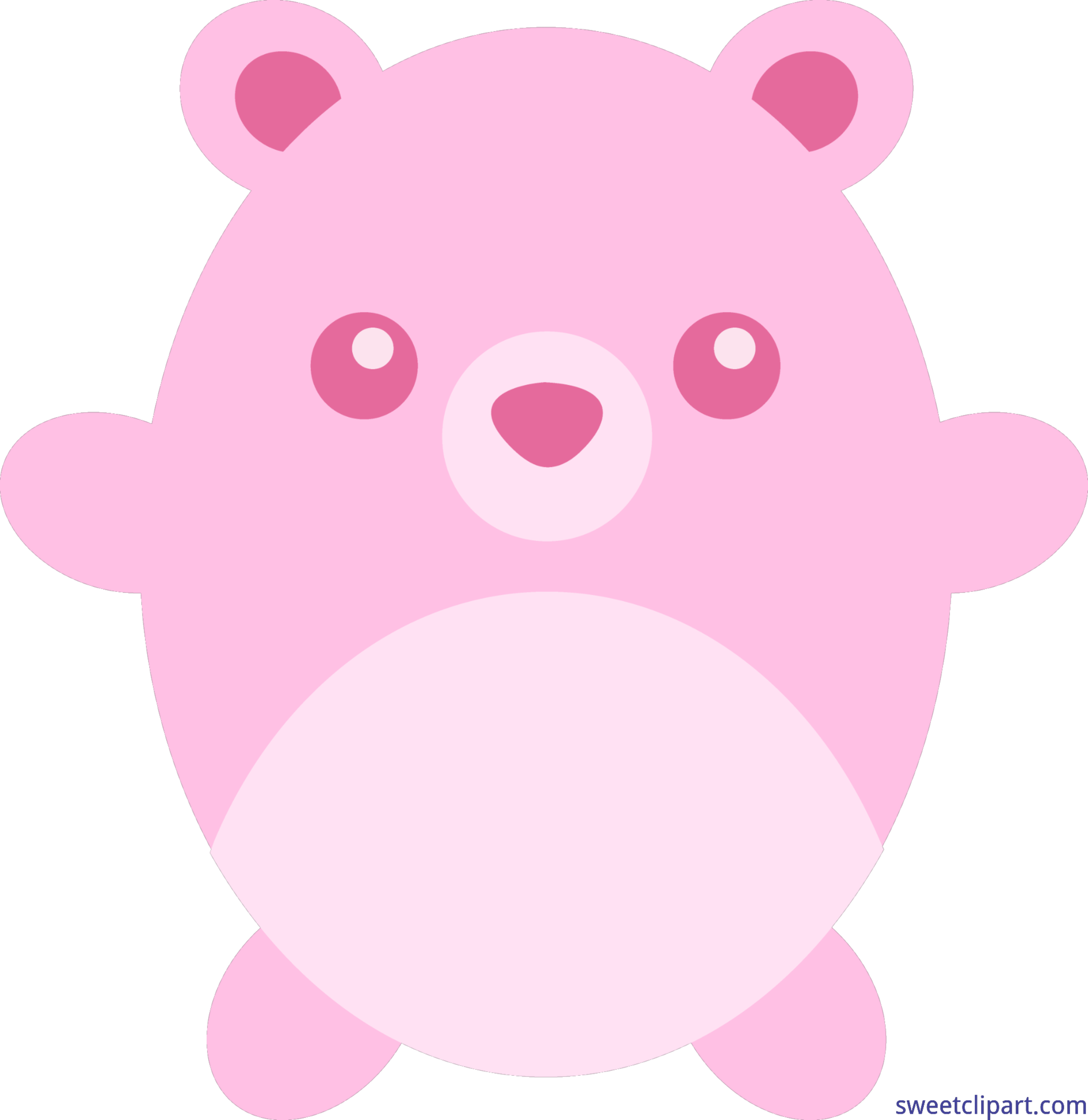 Clipart bear medical. Teddy round pink clip