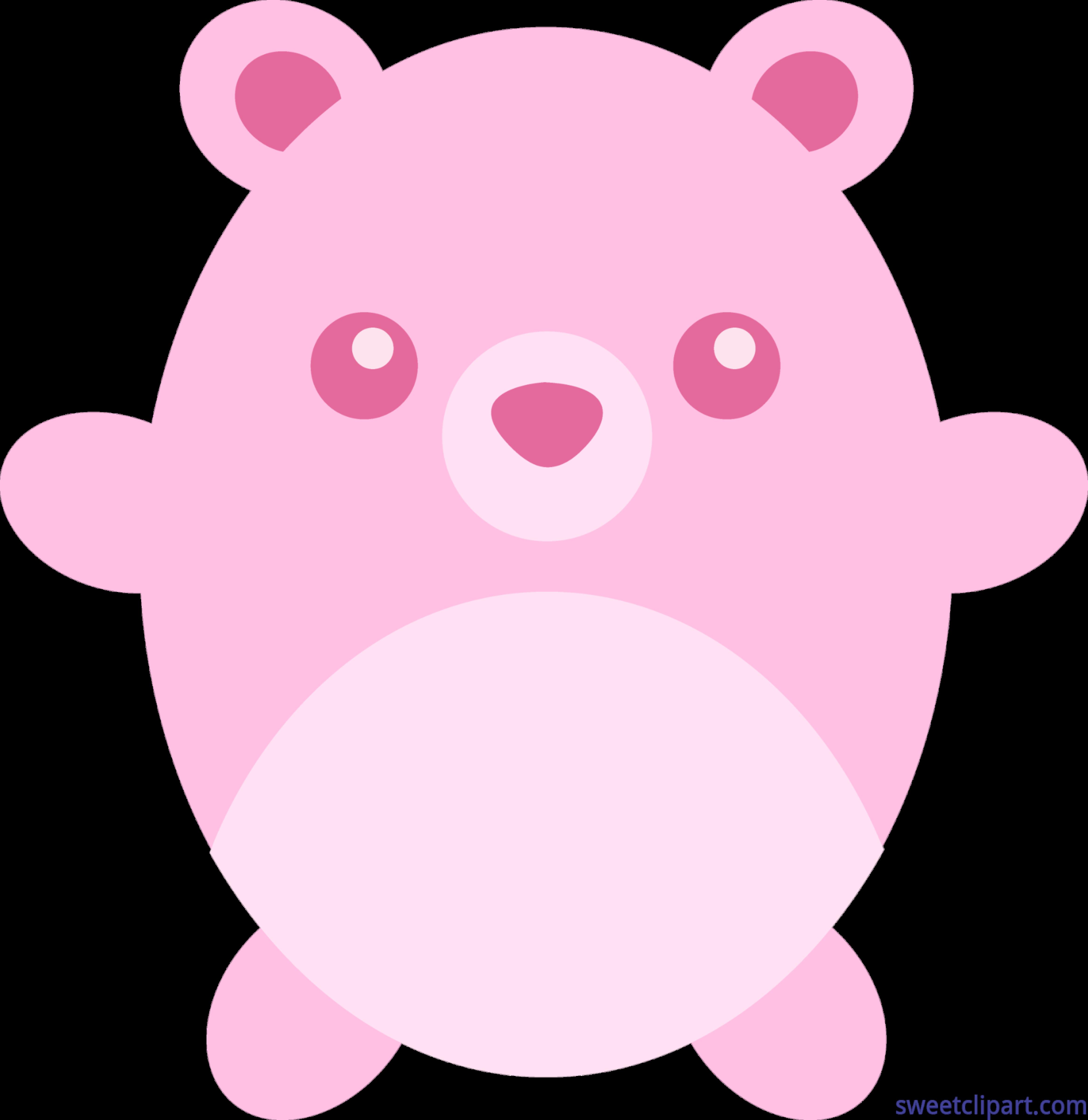 Round pink clip art. Medical clipart teddy bear