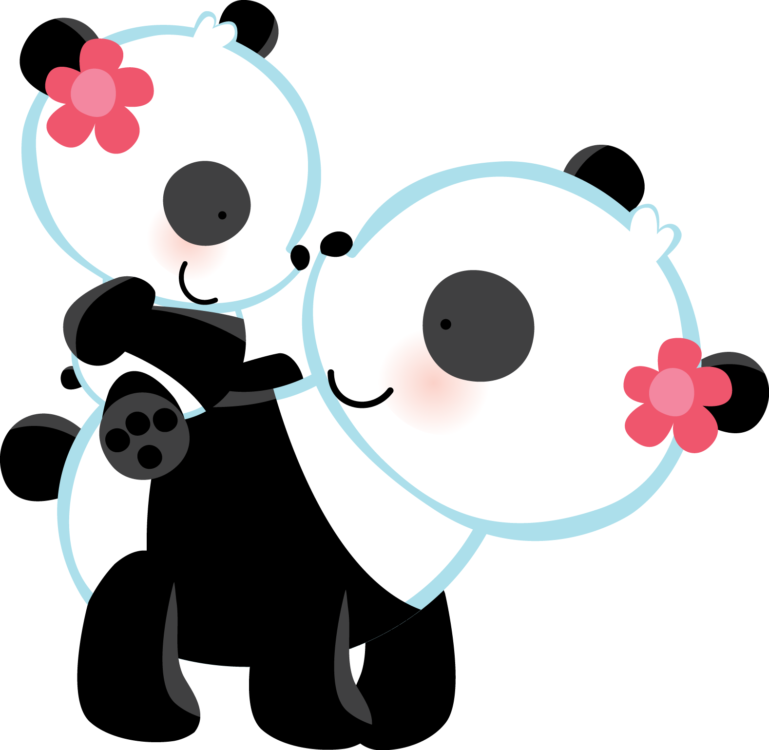 Zwd babylove pandas png. Mother clipart cuddle