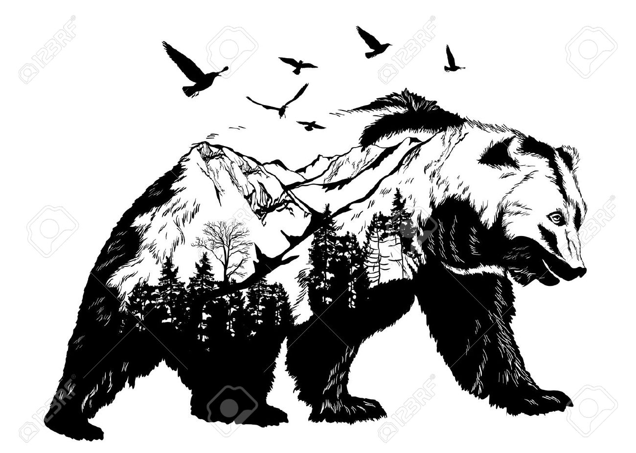 Clipart bear mountain. Free grizzly download clip