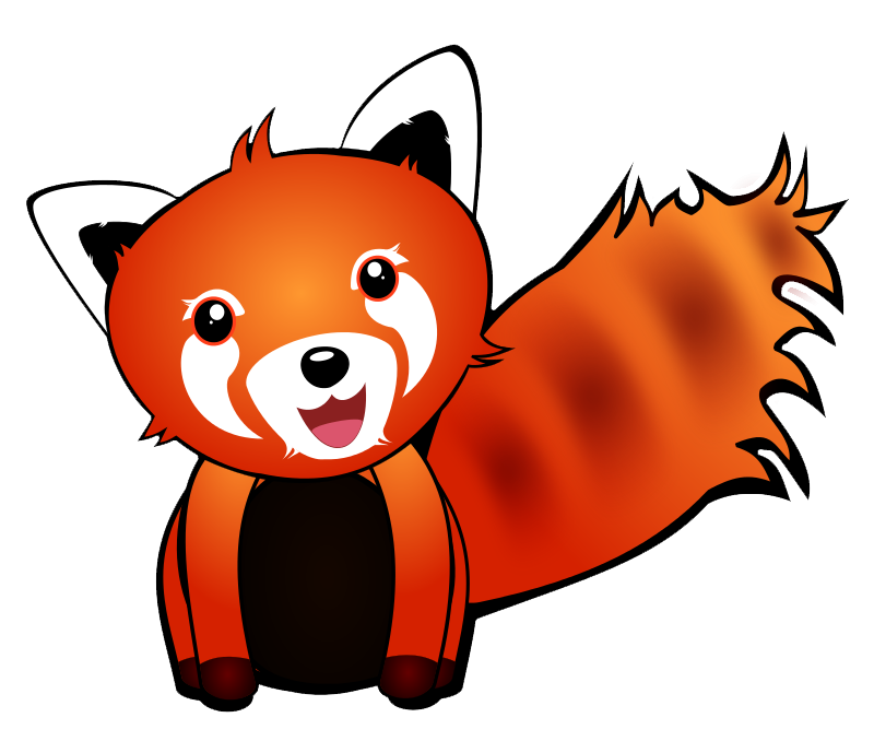 Red pencil and in. Racoon clipart chester