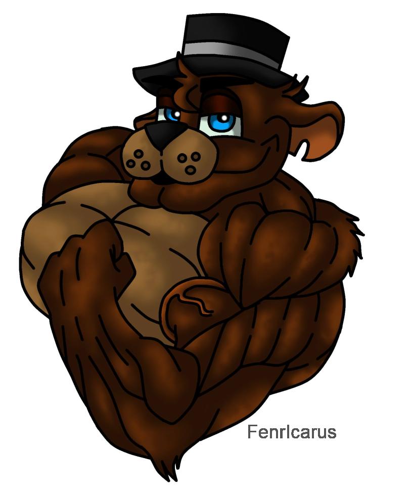 Freddy fazbear animated video. Clipart bear muscular